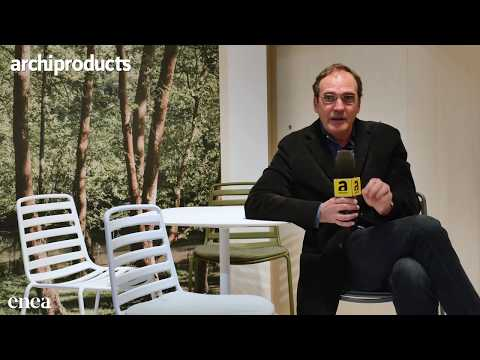 Enea op de Salone del Mobile, Milano 2017 ... ENEA - Manel Molina talks about LTS and Kaiak, the chairs